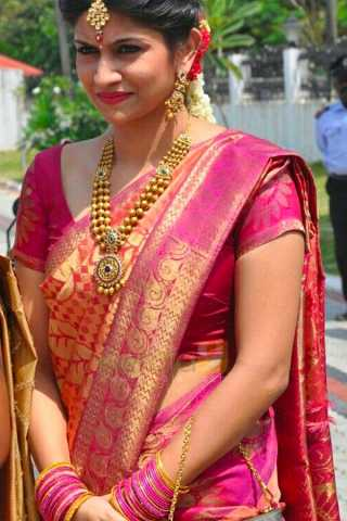 Amazing Pink Wedding Wear Soft Silk Saree With Blouse