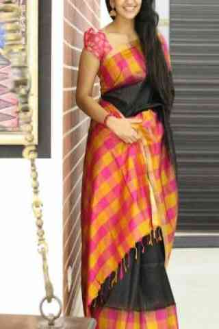 Eye Catching Black Color Soft Silk Designer Sarees - cnd677