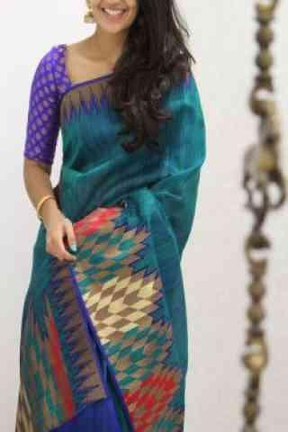 Unique Multi Color Soft Silk Designer Sarees - cnd981