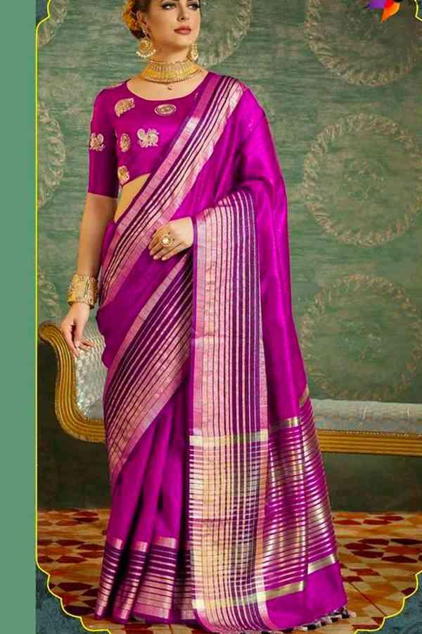 Mesmerising Pink Colored Soft Silk saree - CD-CS21