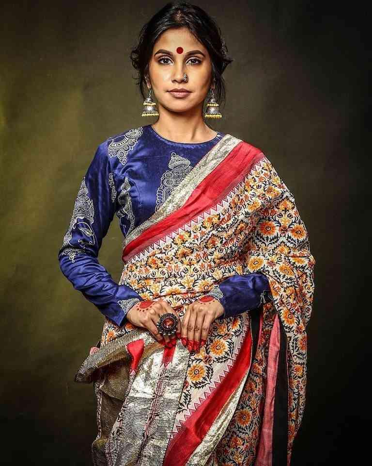 Trendy Multi Colored Traditional Soft Silk Festive Wear Saree