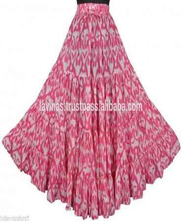 Remarkable Pink Color Satin Silk Printed Free Size Lehenga - CG148