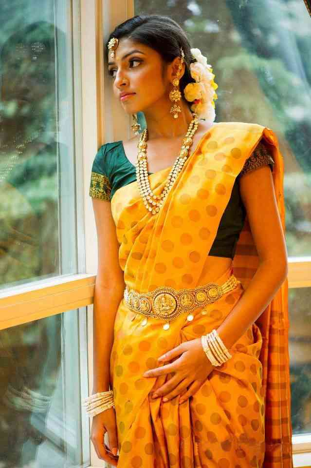 Classic Yellow Printed Soft Silk Fashionable Saree - J-156