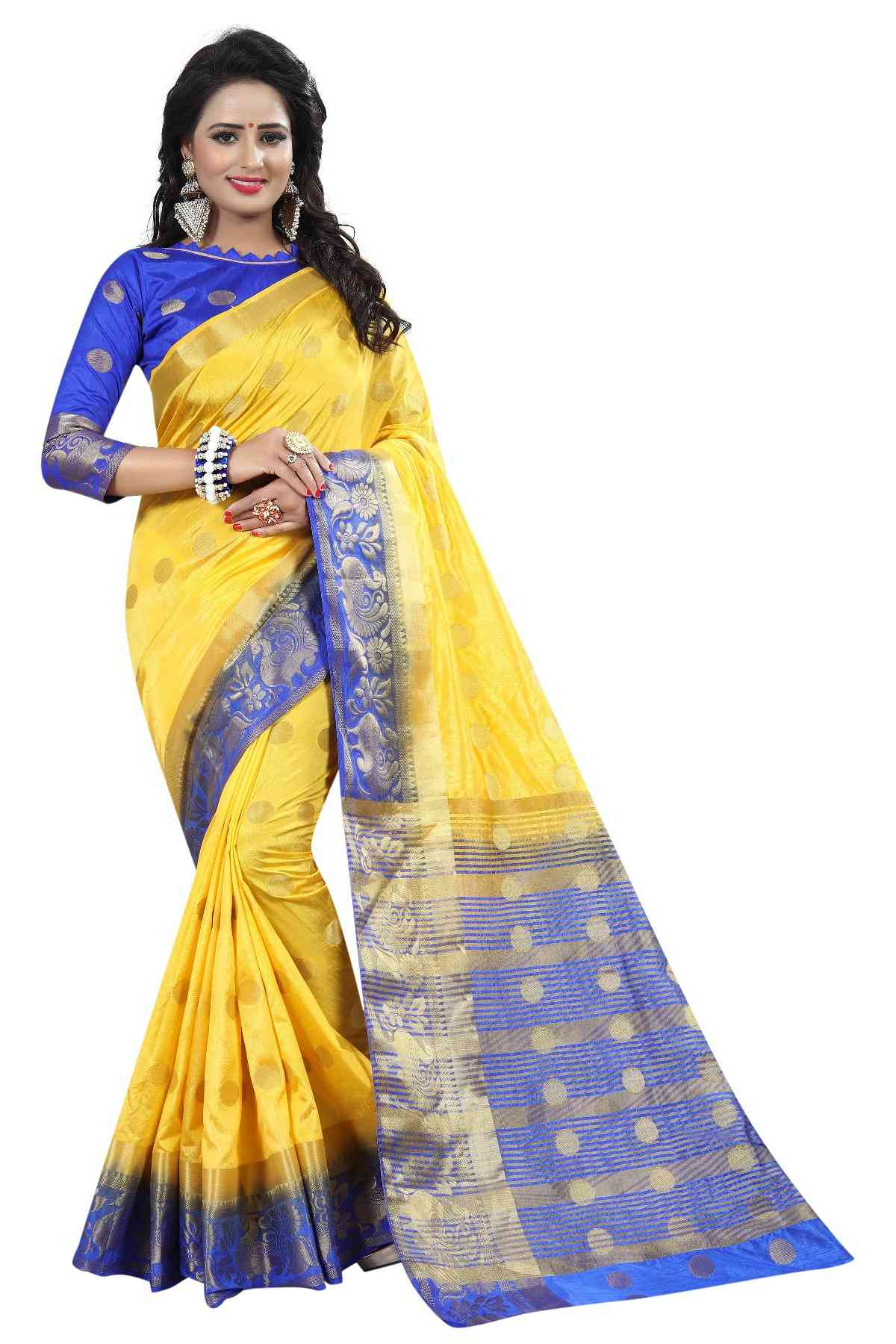 Women's New Cotton Silk Designer Saree - Maruti-GOLI2
