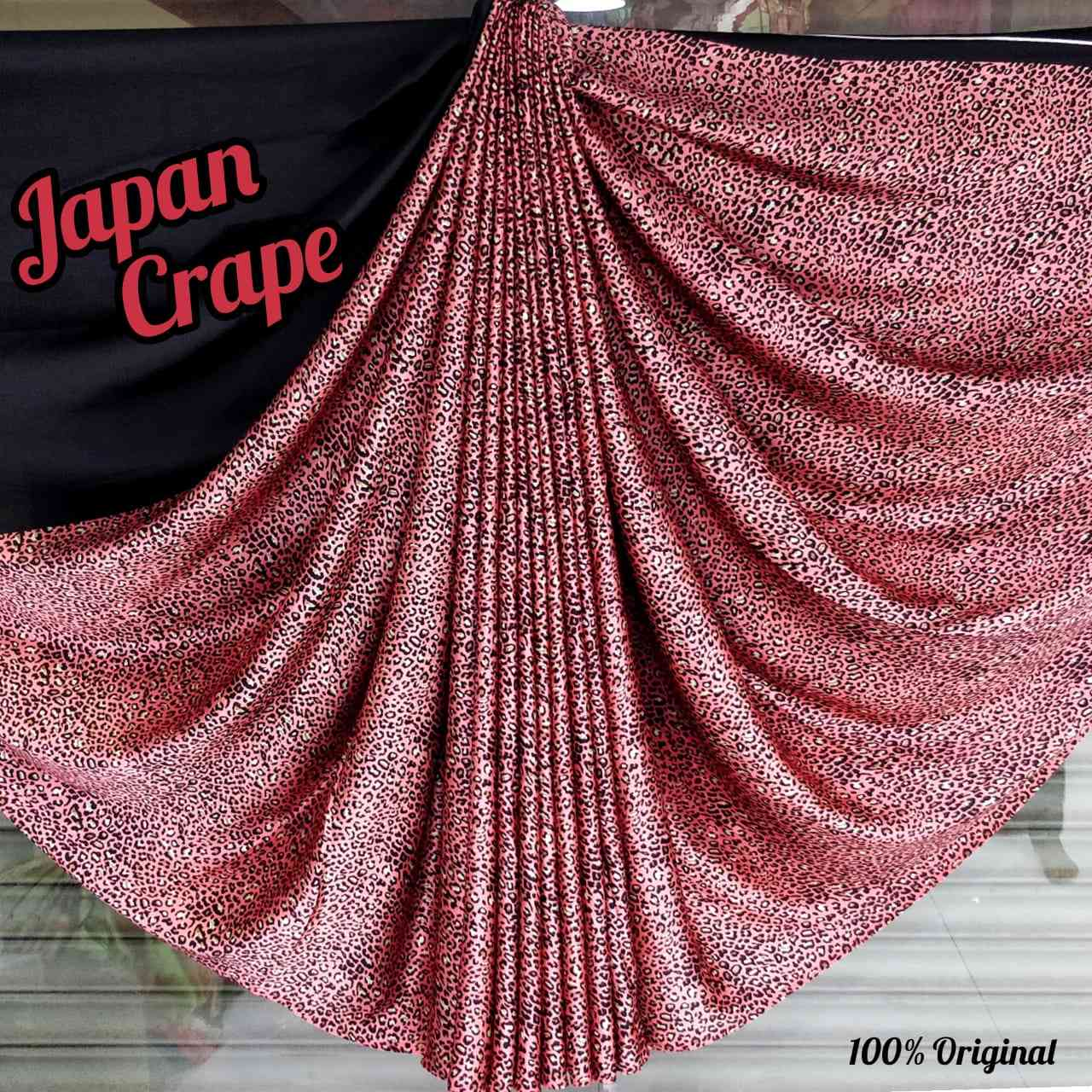 Designer English  Japan Crape Saree