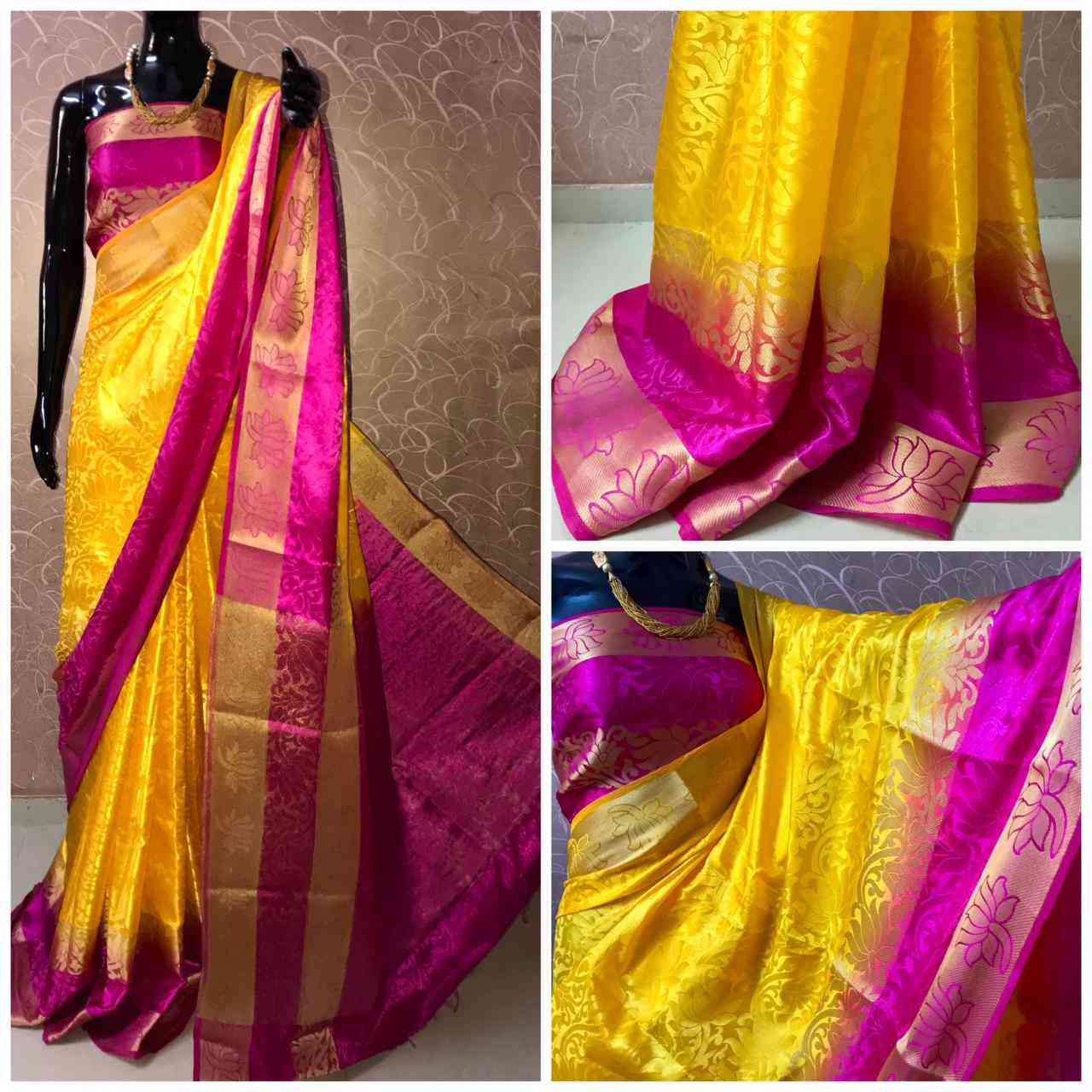 Mastanifab Cotton Silk Jaquard Border Sarees With Blouse  30""