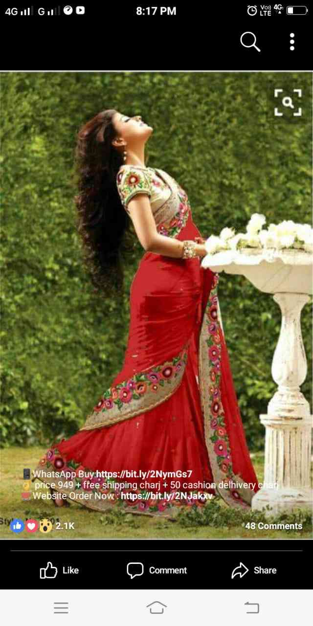 """MF Havy Embroidred Georgette Saree with blouse  30"""""""