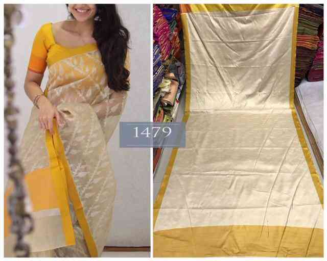 MF1479 Exclusive Trendy Hotselling Soft And Smooth Golden Zari Satin With  Bueatiful Eye Catching Digital Printed Saree With Running Blouse