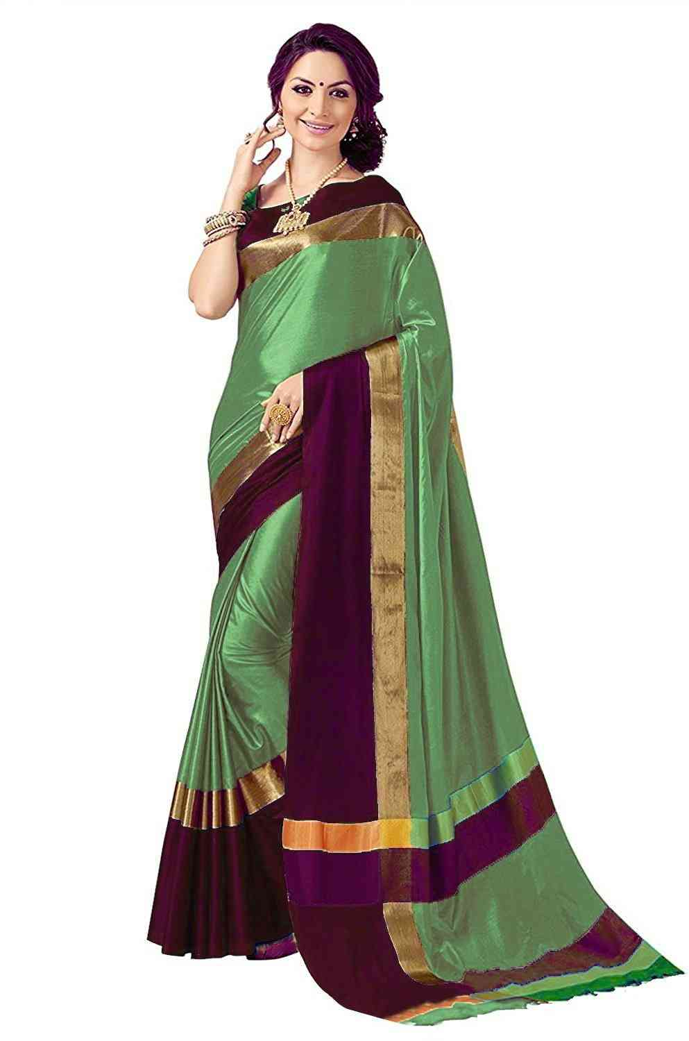 MF angi cotton silk saree
