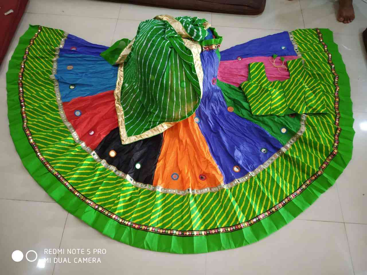 Designer  Green Colored Wedding Wear Cotton  Lehenga Choli  30""