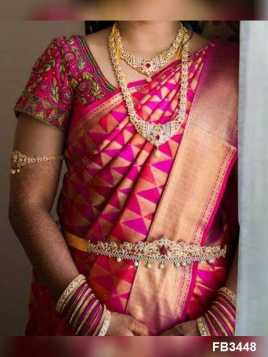 Radiant Pink Colored Soft Silk Saree - FB3448-Z  30""
