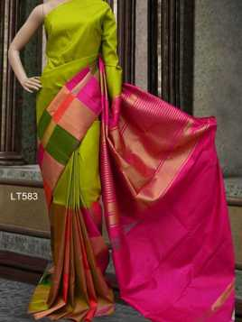 Poly Silk Multicolour Printed Saree - LT583