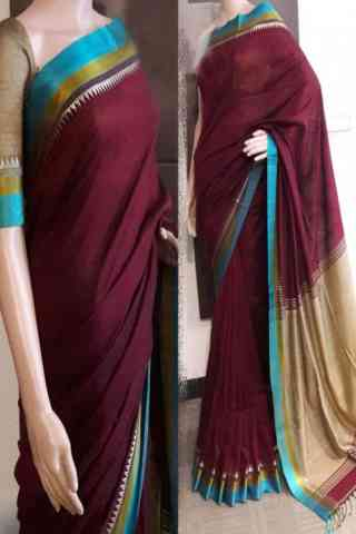 Innovative Maroon Color Soft Silk Saree - SB787