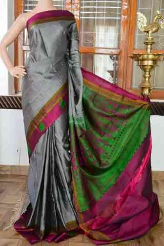 Graceful  Gey Color Soft Silk Saree - SB808