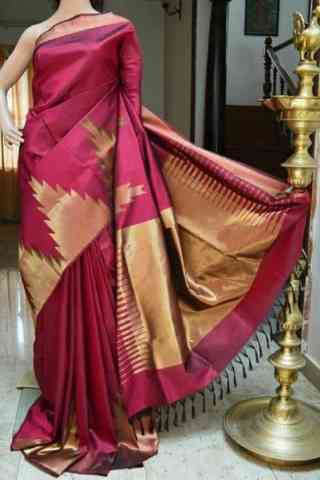 Engrossing Pink Color  Soft Silk Saree - SB822
