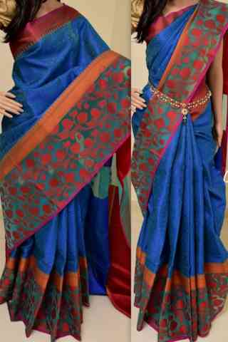 Graceful Multi Color Soft Silk Saree - SB846