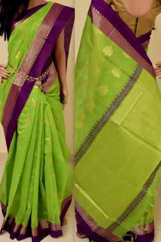 Artistic Green Color Soft Silk Saree - SB847