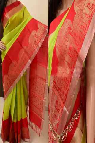 Exclusive Green Color Soft Silk Saree - SB867  30""