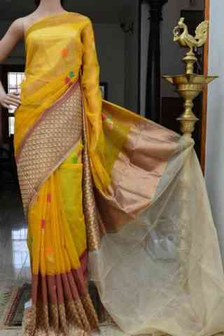 Engrossing Yellow Color Soft Silk Designer Saree - SB874  30""