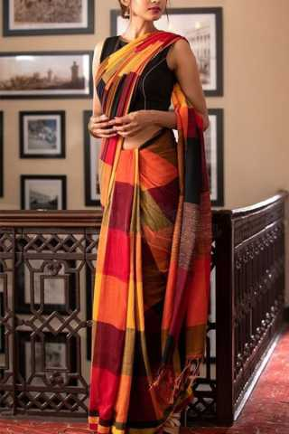 Adorable Multi Colored Soft Silk Saree - CD108  30""