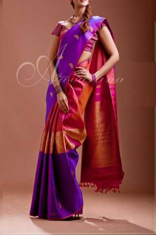 Alluring Multi Colored Soft Silk Saree - CD142  30""