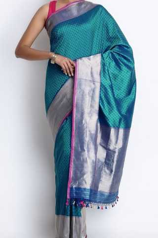 Elegant Light Blue Colored Soft Silk Saree - CD146