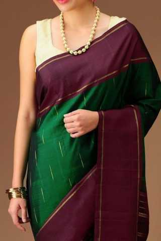 Preferable Green Colored Soft Silk Saree - CD164