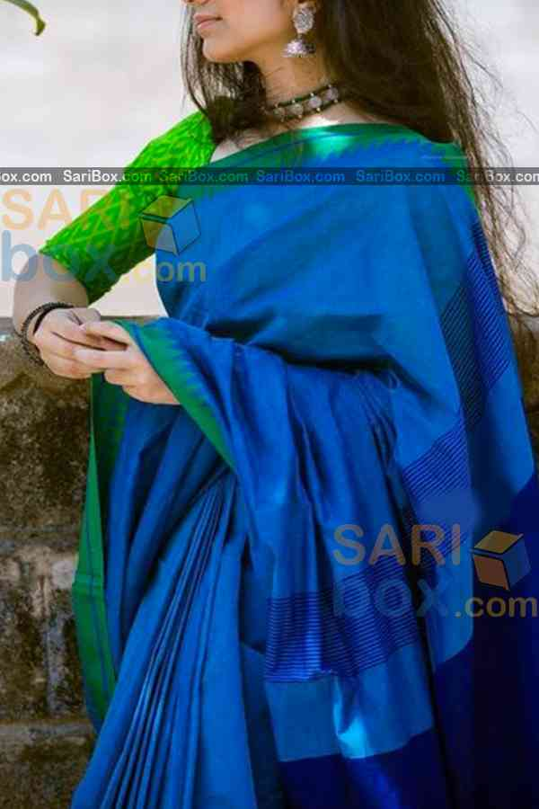 Blue Colored Designer Soft Silk Festivewear Saree - CD245