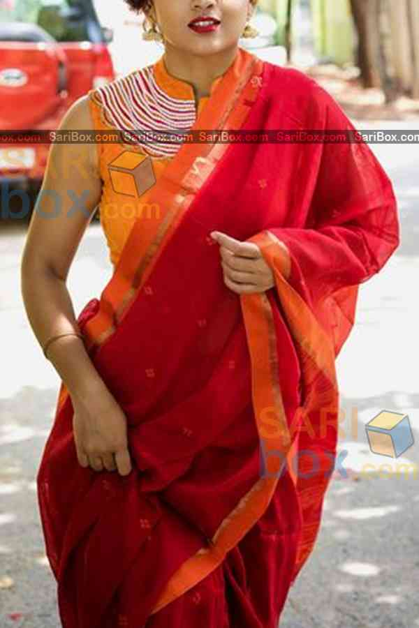 Gleaming Red Colored Designer Soft Silk Festivewear Saree - CD246  30""