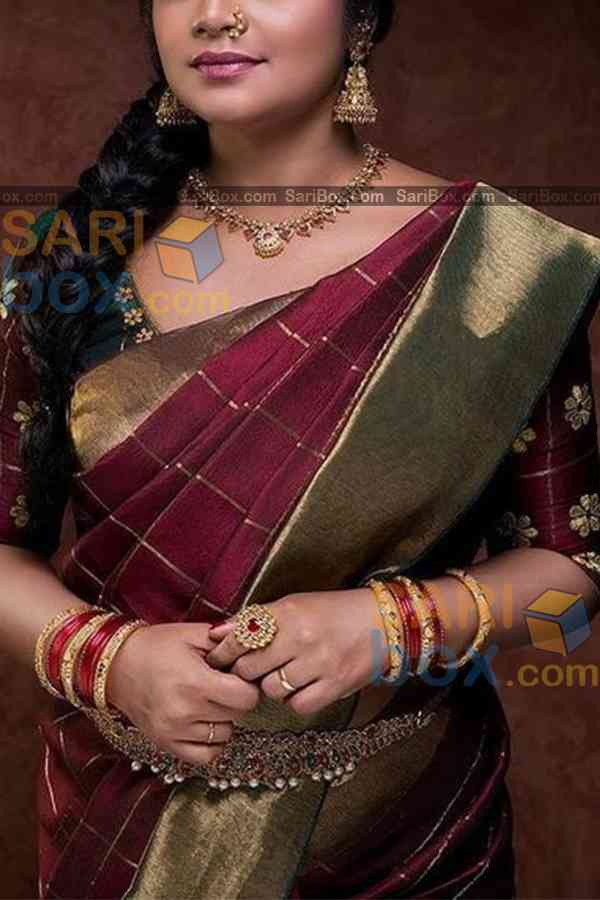 Trendy Maroon Colored Designer Soft Silk Festivewear Saree - CD253
