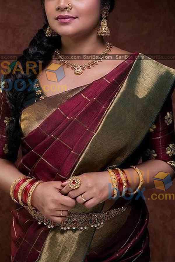 Trendy Maroon Colored Designer Soft Silk Festivewear Saree - CD253
