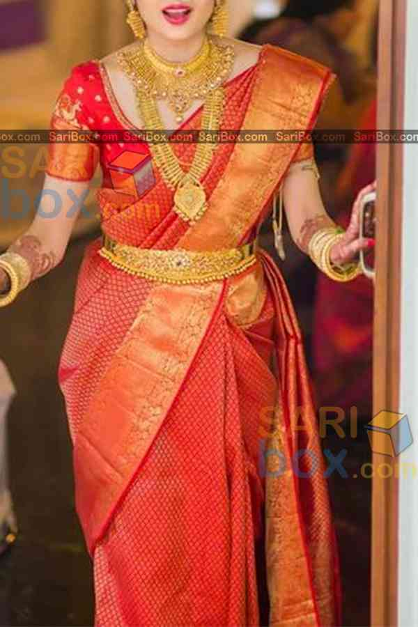Miraculous Red Colored Designer Soft Silk Festivewear Saree - CD258
