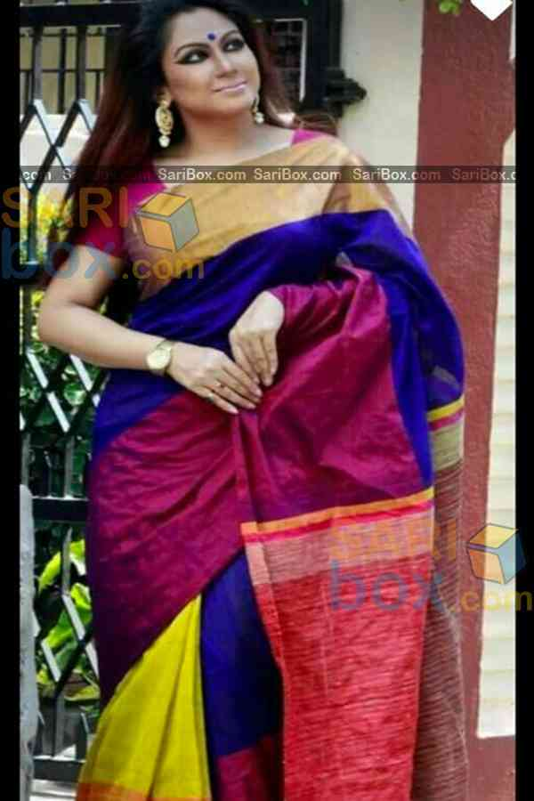 Elegant Multi Colored Karwa Chauth Special Soft Silk Festive Wear Saree - CD350