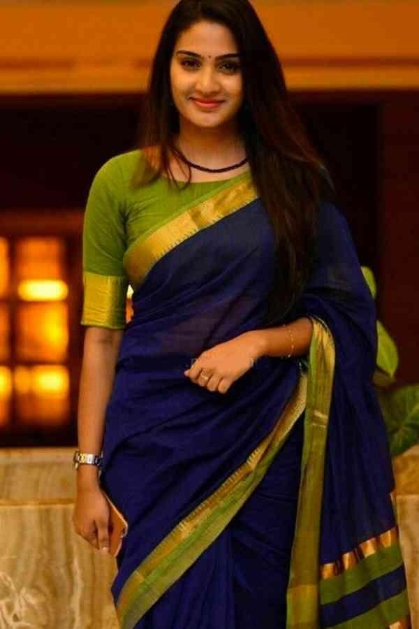 Timeless Blue and Green Soft Silk Saree