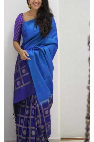 Lovely Blue Color Soft Silk Designer Sarees - SB1200