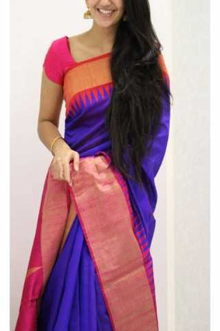 Vivacious Blue Color Soft Silk Designer Sarees - SB1274  30""