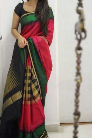 Royal Multi Color Soft Silk Designer Sarees - SB1326