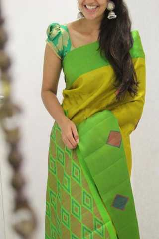 Classic Green Color Soft Silk Designer Sarees - SB1333
