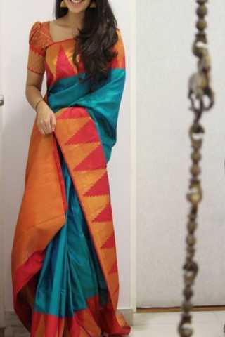 Classic multi Color Soft Silk Designer Sarees - SB1338