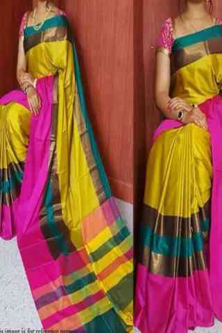 Admirable Multi Color Soft Silk Saree - SB577