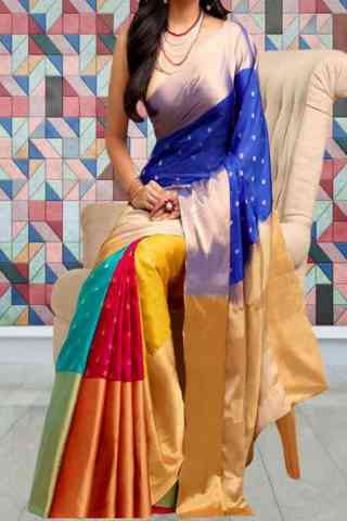 Modern Multi Color Soft Silk Saree - SB579