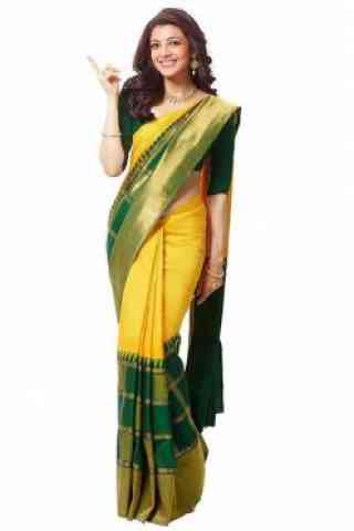 Fashionista Yellow Color Soft Silk Saree - SB 582  30""