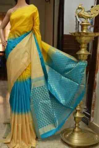 Beautiful Multicolor Color Soft Silk Designer Sarees - SB704  30""