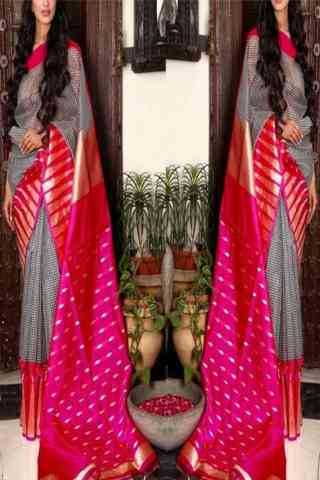 Eye Catching Multi Color Soft Silk Designer Sarees - SB709  30""