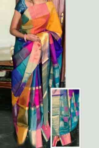 Stylish Multi Color Soft Silk Designer Sarees - SB712  30""
