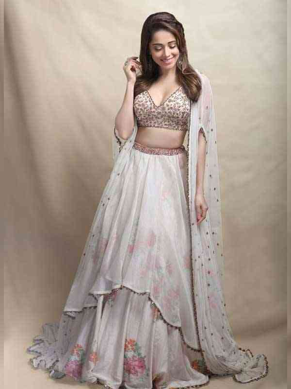 Captivating Dull White Colored Wedding Wear Embroidered Lehenga Choli - LC12