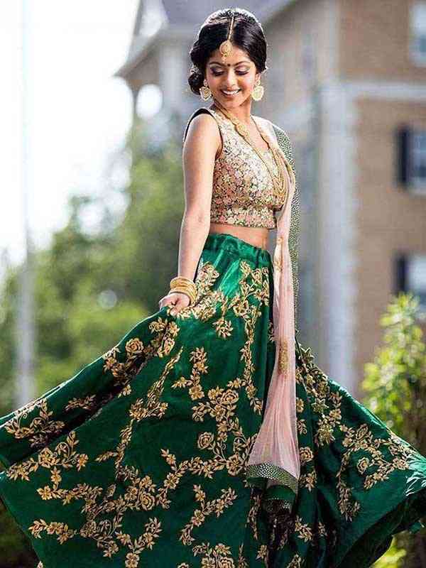 pakistani style Bollywood Wedding Bridal Party Wear Lahenga - LC164