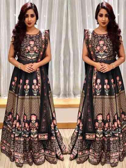 Black Colour Indian Stylish Women Designer Party  Gown Type Lehnga Choli With Dupatta - LC180