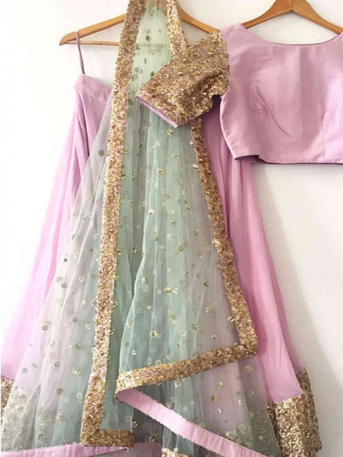 Classical Pink Color Bangalory Silk Indian Latest Designer Bridal Lehenga Choli - LC50