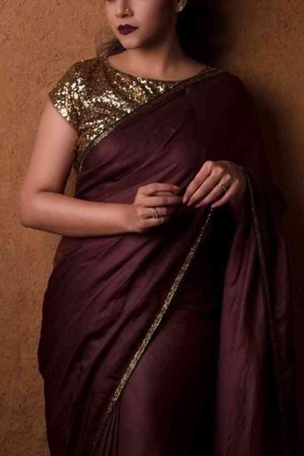 Maroon Colored Beautiful Pure Silk Touch Original Fabric Designer Saree With Designer Blouse - Mfab09